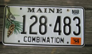 Maine Chickadee License Plate 2014