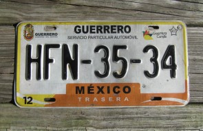 Mexico Guerrero Cumple License Plate