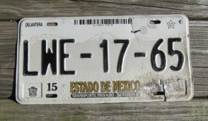 Mexico Estado De Mexico Mountains License Plate