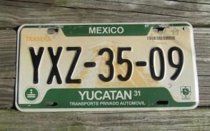 Mexico Yucatan Pyramid License Plate