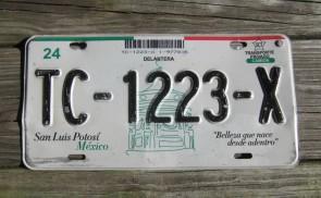 Mexico San Luis Potosi License Plate