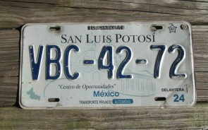 Mexico San Luis Potosi Center of Opportunities License Plate