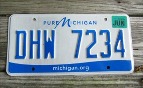 Michigan Pure Michigan License Plate 2016