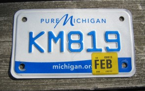 Michigan Motorcycle License Plate Pure Michigan 2018