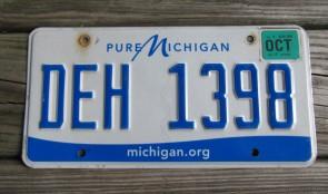 Michigan Pure Michigan License Plate 2016