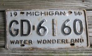 Michigan Winter Wonderland License Plate 1958