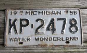 Michigan Winter Wonderland License Plate 1958