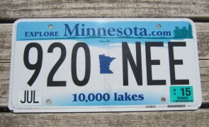 Minnesota Motorcycle License Plate 10,000 Lakes 1974