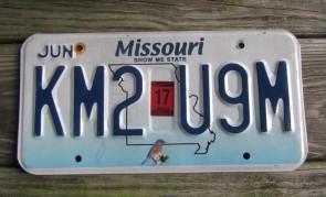 Missouri Blue Bird License Plate 2017 Show Me State