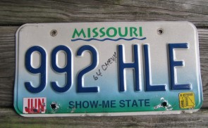 Missouri River License Plate 2000 Show Me State