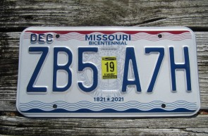 Missouri Blue Bird License Plate 2016 Show Me State