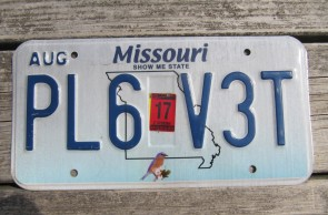 Missouri Blue Bird License Plate 2017 Show Me State