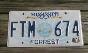 Mississippi Lucille License Plate 2018