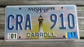 Mississippi Lighthouse License Plate 2011