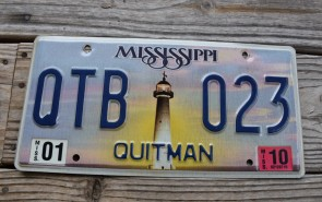 Mississippi Lighthouse License Plate 2010