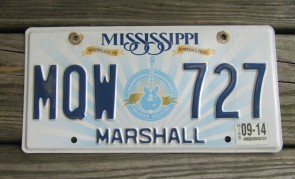 Mississippi Lucille License Plate 2014