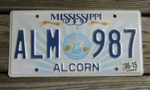 Mississippi Lucille License Plate 2015