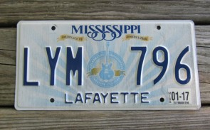 Mississippi Lucille License Plate 2017