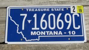Montana Blue Treasure State License Plate