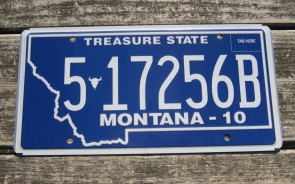 Montana Blue Treasure State License Plate