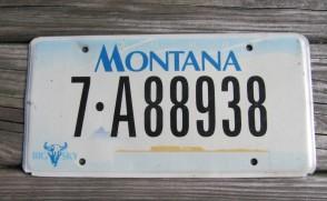 Montana Big Sky License Plate