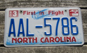 North Carolina License Plate First In Flight 2012