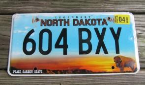 North Dakota Buffalo Legendary License Plate 2018