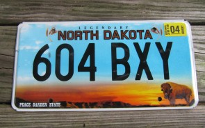 North Dakota Buffalo Legendary License Plate 2018