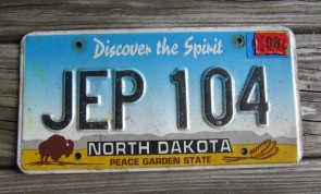 North Dakota Buffalo Discover The Spirit License Plate 2016