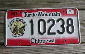 North Dakota Turtle Mountain Chippewa Indian Tripe License Plate 1999