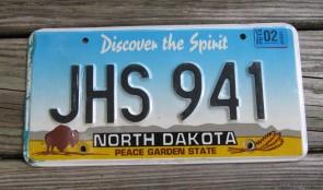 North Dakota Buffalo Discover The Spirit License Plate 2014