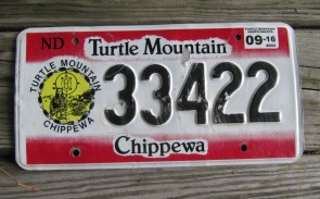 North Dakota Turtle Mountain Chippewa Indian Tribe License Plate 2016