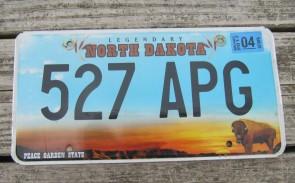 North Dakota Buffalo Legendary License Plate 2017