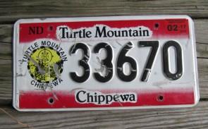 North Dakota Turtle Mountain Chippewa Indian Tribe License Plate 2017