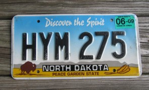 North Dakota Buffalo Discover The Spirit License Plate 2009