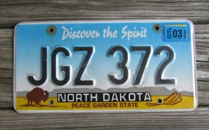 North Dakota Buffalo Discover The Spirit License Plate 2014