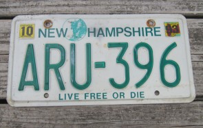 New Hampshire Live Free Or Die License Plate 1988
