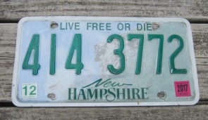 New Hampshire Old Man of The Mountain Live Free or Die License Plate 2017