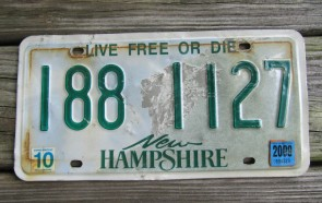 New Hampshire Old Man of The Mountain Live Free or Die License Plate 2009