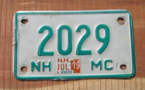 New Hampshire Motorcycle License Plate Old Man of The Mountain 1979