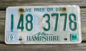 New Hampshire Old Man of The Mountain Live Free or Die License Plate 2018