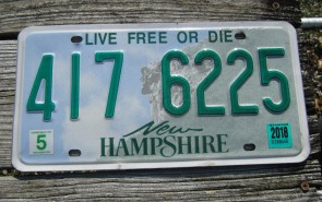 New Hampshire Old Man of The Mountain Live Free or Die License Plate 2016