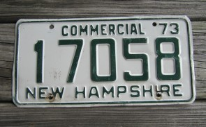 New Hampshire Live Free Or Die License Plate 1973