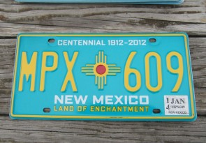 New Mexico Centennial License Plate 2014 Land Of Enchantment 1912 -2012 MPX 609