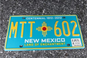 New Mexico Centennial License Plate 2014 Land Of Enchantment 1912 -2002