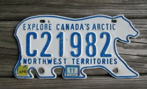 Canada North West Territories Polar Bear License Plate 2011