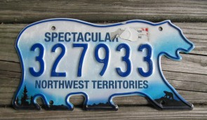 Canada North West Territories Polar Bear License Plate 2010's