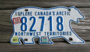 Canada North West Territories Polar Bear License Plate 2008