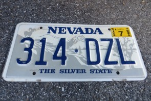 Nevada Big Horn Ram License Plate 1994 The Silver State