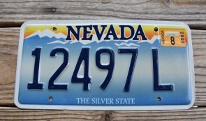 Nevada The Silver State License Plate 2003